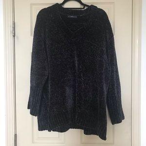 Zara Oversized Charcoal Chenille Sweater size M